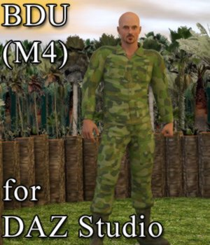 BDU for M4 in DAZ Studio 3D Figure Assets VanishingPoint