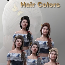 Butterfly Tail Hair for G3 and G8 Females image 9