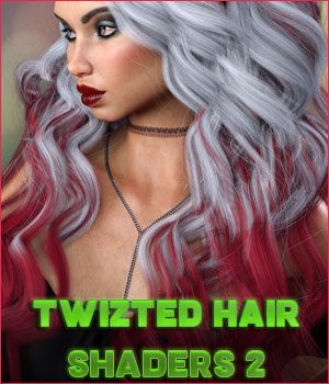 Twizted Hair Shaders 2 3D Figure Assets TwiztedMetal