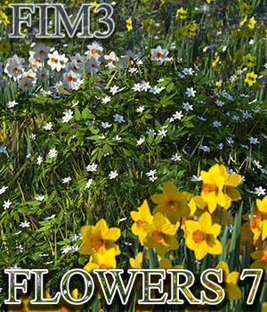 Flinks Instant Meadow 3 - Flowers 7 3D Models Flink
