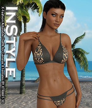 InStyle - X-Fashion Adorable Outfit for Genesis 8 Females 3D Figure Assets -Valkyrie-