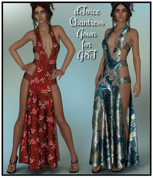 dForce - Chantress Gown for G8F 3D Figure Assets Lully