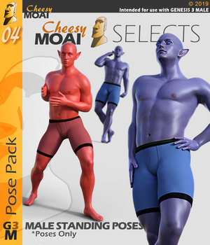 Cheesy Moai Selects v01 : By CheesyMoai for G3M 3D Figure Assets CheesyMoai