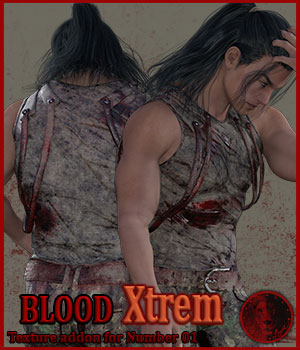 Blood Xtrem for Lyone's Number 01 outfit 3D Figure Assets Lyone