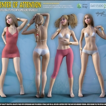 Center Of Attention - poses for Genesis 8 image 4