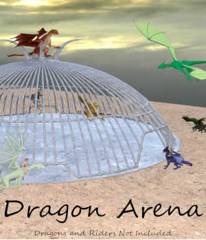 DRAGON ARENA Ultimate Dragon Fighting Cage for Daz Studio and Poser 3D Models Winterbrose