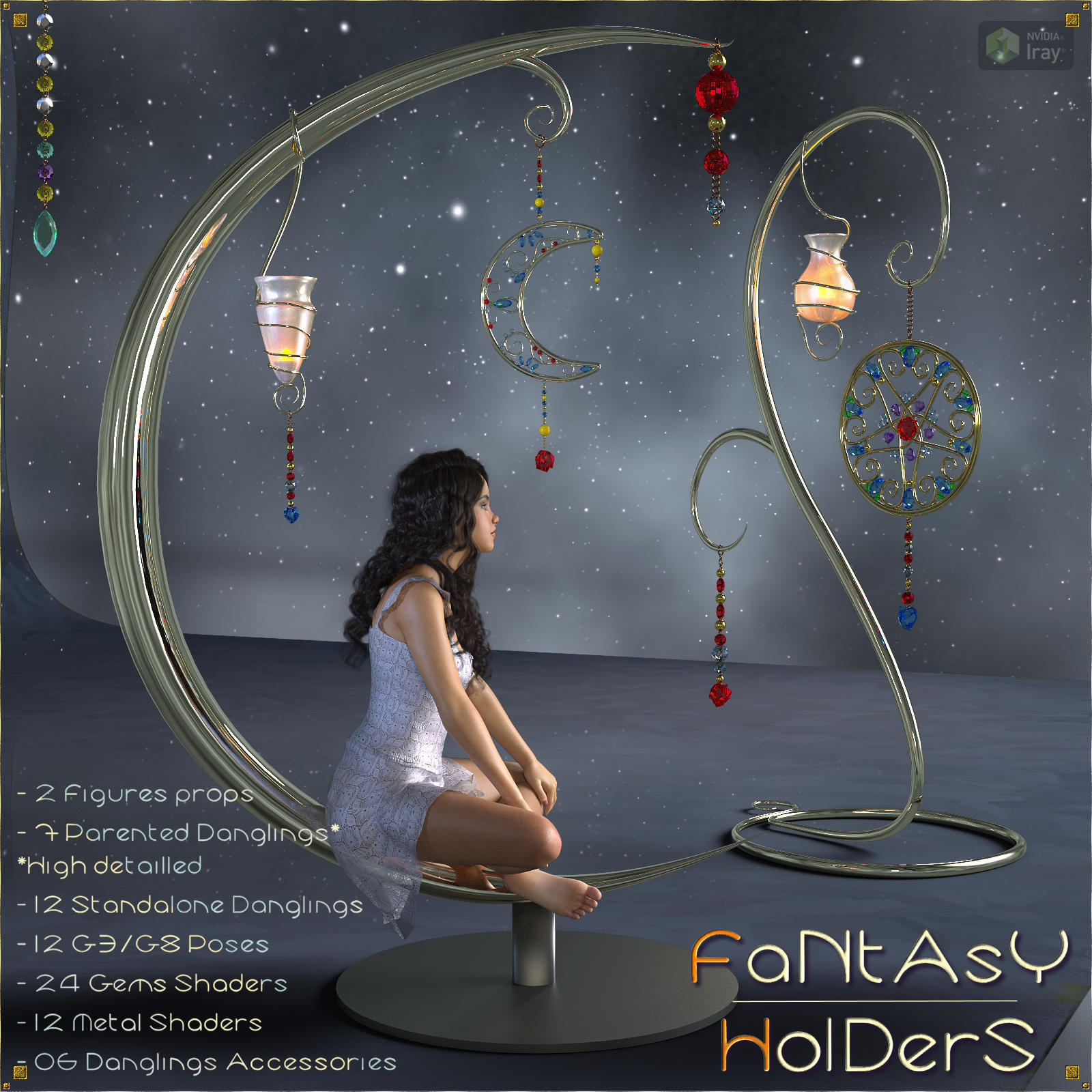 Fantasy Holders - Props & Poses for G8 and G3 - DAZ
