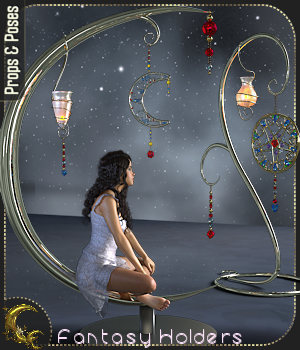 Fantasy Holders - Props & Poses for G8 and G3 - DAZ 3D Figure Assets 3D Models Cyriona