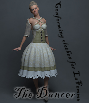 The Dancer Clothes for La Femme 3D Figure Assets La Femme Pro - Female Poser Figure pixpax