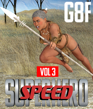 SuperHero Speed for G8F Volume 3 3D Figure Assets GriffinFX