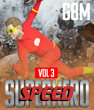SuperHero Speed for G8M Volume 3 3D Figure Assets GriffinFX