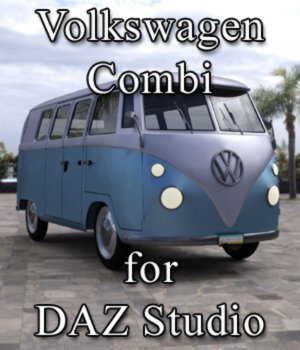 Volkswagen Combi for DAZ Studio 3D Models Digimation_ModelBank