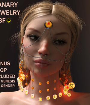 Canary Jewelry For G8F  3D Figure Assets Parallax3DArt