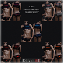 PBR Textures 1 for SciFi Clothing Set 1 for G8F image 11