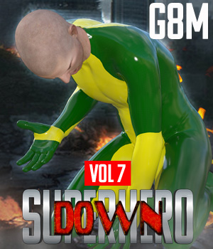 SuperHero Down for G8M Volume 7 3D Figure Assets GriffinFX