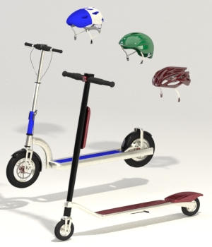 Urban Electric Scooters 3D Models forester