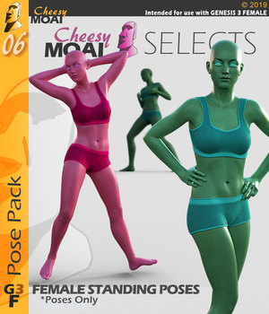 Cheesy Moai Selects G3F v01 : By CheesyMoai for G3F 3D Figure Assets CheesyMoai