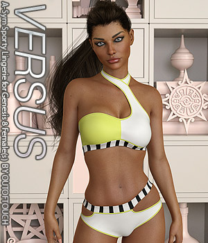 VERSUS - A-Sym Sporty Lingerie for Genesis 8 Females 3D Figure Assets Anagord