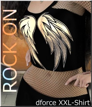 Rock ON- XXL-Shirt 3D Figure Assets LUNA3D