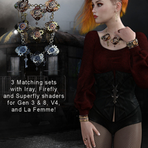 Steampunk Jewelry for G3/G8, La Femme and V4 image 6