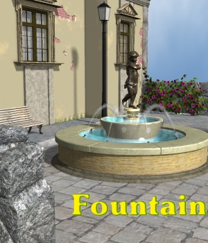 Fountain - Extended License 3D Models Extended Licenses greenpots
