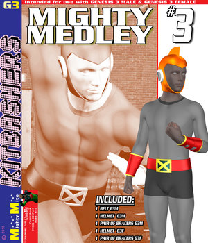 Mighty Medley 003 MMKBG3 3D Figure Assets MightyMite