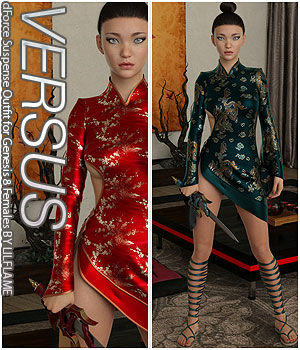 VERSUS - dForce Suspense Outfit for Genesis 8 Females 3D Figure Assets Anagord