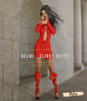 NELMI-Slinky Dress Textures for Genesis 8 Female(s) 3D Figure Assets nelmi