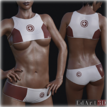 PBR Textures 3 for SciFi Clothing Set 1 for G8F image 5