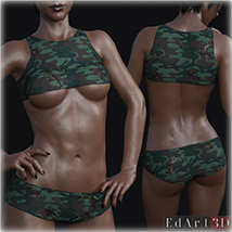 PBR Textures 3 for SciFi Clothing Set 1 for G8F image 8