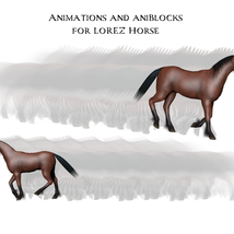 Animations and aniBlocks for LoRez Horse image 1