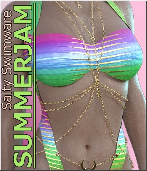 Summerjam - dforce Salty Swimware 3D Figure Assets LUNA3D
