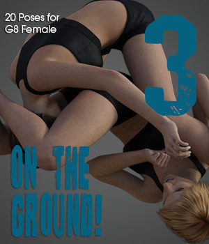 ON THE GROUND! vol.3 for Genesis 8 Female 3D Figure Assets PainMD
