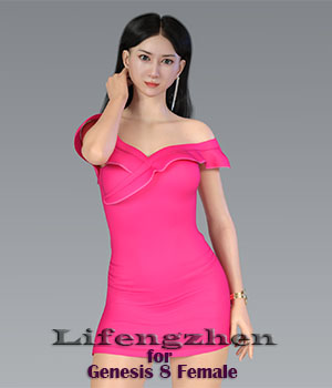 Lifengzhen  for Genesis 8 F 3D Figure Assets CarefreeMonkey