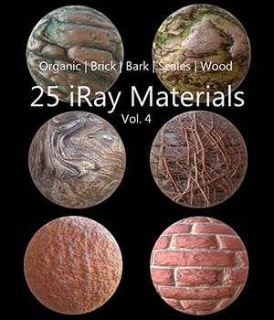 iRay Materials Collection 3D Figure Assets Merchant Resources PolygonalMiniatures