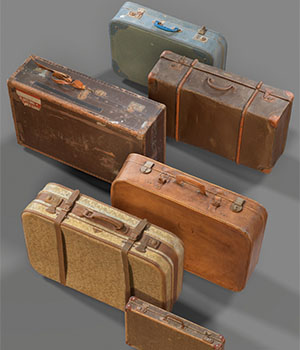 Suitcase Collection 3D Figure Assets 3D Models PolygonalMiniatures