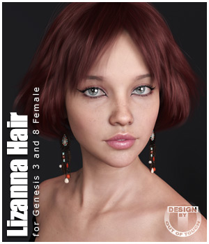 Lizanna Hair for Genesis 3 and 8 Females 3D Figure Assets outoftouch
