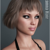 Lizanna Hair for Genesis 3 and 8 Females image 1