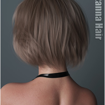 Lizanna Hair for Genesis 3 and 8 Females image 2