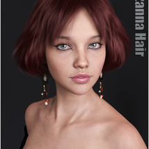 Lizanna Hair for Genesis 3 and 8 Females image 4