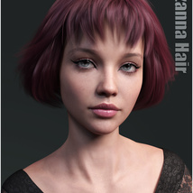 Lizanna Hair for Genesis 3 and 8 Females image 6