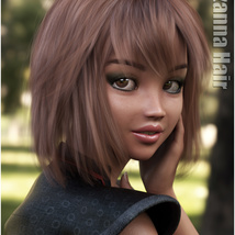 Lizanna Hair for Genesis 3 and 8 Females image 8