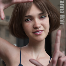 Lizanna Hair for Genesis 3 and 8 Females image 9