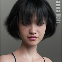 Lizanna Hair for Genesis 3 and 8 Females image 10