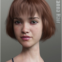 Lizanna Hair for Genesis 3 and 8 Females image 11