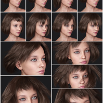 Lizanna Hair for Genesis 3 and 8 Females image 12