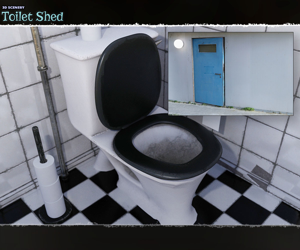 3D Scenery: Toilet Shed