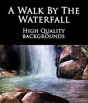 A Walk By The Waterfall Backgrounds 2D Graphics scifibabe