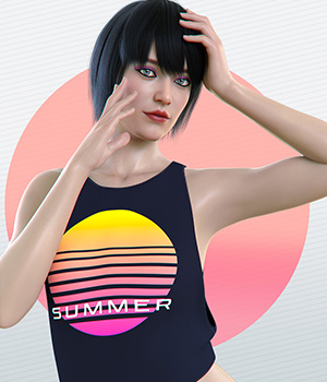dForce Summer Top for Genesis 8 Female 3D Figure Assets Imaginary3D