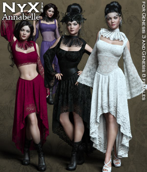 NyX dForce Annabelle Dress 3D Figure Assets Rhiannon